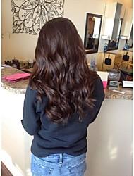 Χαμηλού Κόστους -Συνθετικές Περούκες Σγουρά / Κυματομορφή Σώματος Στυλ Μέσο μέρος Χωρίς κάλυμμα Περούκα Καφέ Μπεζ Συνθετικά μαλλιά 28 inch Γυναικεία συνθετικός / Φυσική γραμμή των μαλλιών / Στη μέση Καφέ Περούκα Μακρύ