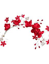 رخيصةأون -تول خوذة مع زهور 1 قطعة زفاف / حفل / مساء خوذة