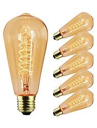 Недорогие -6шт 40 W E26 / E27 ST64 Прозрачный Body Лампа накаливания Vintage Эдисон лампочка 220-240 V / 110-120 V