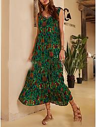 levne -Dámské Elegantní Swing Šaty Maxi