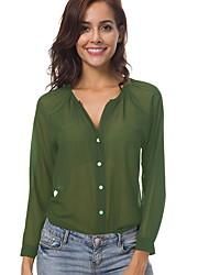 baratos -Mulheres Camiseta Sólido Verde XXXXL