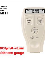 Недорогие -Измерители толщины Benetech толщиномер автомобилей краска покрытия толщиномер цифровой авто толщиномер пленки gm211