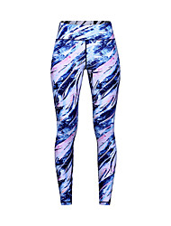 levne -Dámské Kalhoty na jógu Modrá Sportovní Módní Cyklistické kalhoty Běh Fitness Gym workout Sportovní oděvy Lehká váha Prodyšné Odvod vlhkosti Rychleschnoucí Vysoká pružnost Štíhlý
