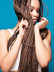 저렴한 -땋은 머리 직진 아프리카 킨키 드리다 / 크로 셰 뜨개질 머리 끈 인조 합성 헤어 6 개 헤어 드리다 자연 색상 28인치 내열성 / 인간의 머리카락으로 땋은 머리띠 / 100 % 카네 칼론 머리카락 결혼식 / 일상복 아프리카 머리띠