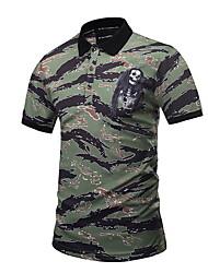 cheap -Men's Polo - Camo / Camouflage Army Green XL