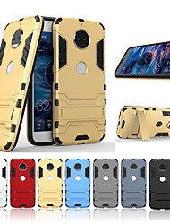 cheap -Case For Motorola MOTO G5 Shockproof / with Stand Back Cover Solid Colored / Armor Hard PC for Moto G5s