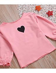 halpa -Vauva Tyttöjen Perus Painettu Pitkähihainen Polyesteri Pusero Musta