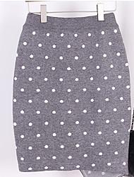 זול -מנוקד - חצאיות צינור / בתולת ים \חצוצרה סגנון רחוב בגדי ריקוד נשים