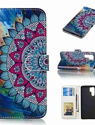 abordables -Coque Pour Huawei Huawei P30 Pro / P10 Plus Portefeuille / Porte Carte / Clapet Coque Intégrale Fleur Dur faux cuir pour Huawei P30 / Huawei P30 Pro / P10 Plus