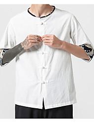 お買い得  -男性用 シャツ ソリッド ホワイト XXXL