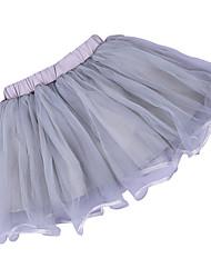 tanie -Dzieci / Brzdąc Dla dziewczynek Aktywny / Podstawowy Solidne kolory Pofałdowany Bawełna Spódnica Szary