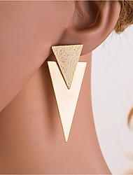 levne -Dámské Stříbrná Zlatá Geometrické Visací náušnice Náušnice Evropský Šperky Zlatá / Stříbrná Pro Denní 1 Pair