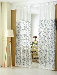 Недорогие -Деревенский Прозрачный 1 панель Прозрачный Спальня   Curtains