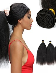 Недорогие -6 Связок Бразильские волосы Яки Вытянутые Не подвергавшиеся окрашиванию 100% Remy Hair Weave Bundles Человека ткет Волосы Пучок волос One Pack Solution 8-28 дюймовый Естественный цвет