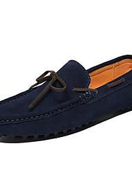 baratos -Homens Mocassim Camurça Primavera / Outono Casual / Formais Sapatos de Barco Não escorregar Cinzento / Café / Azul
