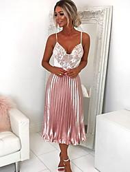 povoljno -ženski midi linija suknje - u boji