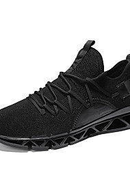 cheap -Men's Fashion Boots Tissage Volant Spring & Summer Sporty / Casual Athletic Shoes Running Shoes / Walking Shoes Breathable Booties / Ankle Boots White / Black / Red