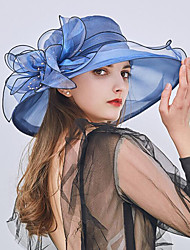 0e548474 cheap -Tulle / Organza Hats / Headwear with Faux Pearl / Flower / Trim 1