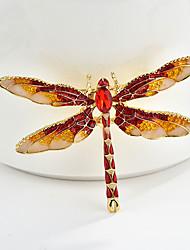 povoljno -Žene Klasičan Broševi Dragonfly Sa životinjama Crtići slatko Moda folk stil Broš Jewelry Crvena Plava Crno Za diplomiranje Dar Dnevno Karneval Festival