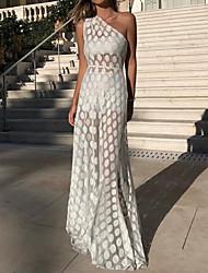 6fdda9f5cb abordables Vestidos de Talla Grande-Mujer Corte Swing Vestido Maxi Un Hombro