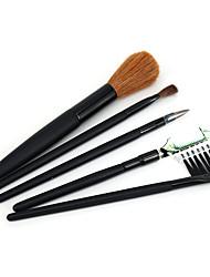 ieftine -Profesional Machiaj perii 5 piese Moale sintetic Cal de par Perie cal Lemn / Bambus pentru Pensule Tuș Pensulă Blush Perie Fond Pensula de machiaj Perie Buze Pensulă pentru sprâncene Perie Fard
