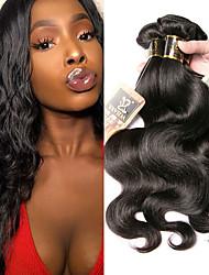 olcso -4 csomópont Brazil haj Hullámos haj 100% Remy hajszövési csomó Az emberi haj sző Bundle Hair Egy Pack Solution 8-28 hüvelyk Természetes szín Emberi haj sző Szagmentes Ajándék Szerepjáték Human Hair