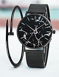 Недорогие -Жен. Кварцевые На каждый день Мода Черный Серебристый металл Золотистый Нержавеющая сталь Китайский Кварцевый Черный Серебряный Розовое Золото Защита от влаги Повседневные часы Крупный циферблат 30 m