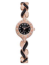 Недорогие -Жен. Кварцевые Классика На каждый день Серебристый металл Розовое золото Полиэстер Китайский Кварцевый Розовый Черный / серебряный Розовое Золото Очаровательный Повседневные часы обожаемый 1 ед.