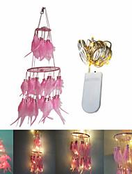 preiswerte -2m Leuchtgirlanden 20 LEDs SMD 0603 Warmes Weiß Dekorativ / Weihnachtshochzeitsdekoration Batterien angetrieben 1 set