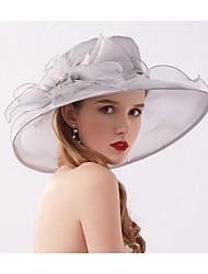 preiswerte -Tüll / Organza Fascinatoren / Hüte / Mütze mit Kristall / Feder / Schleife 1 Hochzeit / Freizeitskleidung Kopfschmuck