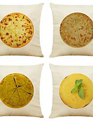hesapli -4 takım meksika tacos keten kare dekoratif atmak yastık kılıfları kanepe yastık kapakları 18x18