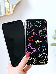 economico -Custodia Per Apple iPhone X / iPhone XS Max Effetto ghiaccio / Transparente / Fantasia / disegno Per retro Transparente Morbido TPU per iPhone XS / iPhone XR / iPhone XS Max