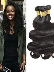 זול -6 צרורות שיער הודי Body Wave שיער ראמי אביזר לשיער טווה שיער אדם שיער Bundle 8-28 אִינְטשׁ צבע טבעי שוזרת שיער אנושי רך הלבשה קלה איכות מעולה תוספות שיער אדם בגדי ריקוד נשים