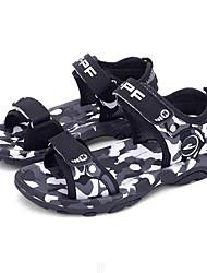 billige -Drenge Sko PU Sommer Komfort Sandaler for Børn / Teenager Mørkeblå / Blå / Sort / Hvid / Farveblok