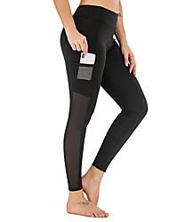 economico -Dancewear sportivo Pantaloni / Yoga Per donna Addestramento / Prestazioni Elastico / Elastene / polyster Tasca sul retro / Più materiali Naturale Pantaloni