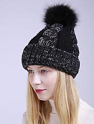 voordelige -Dames Actief leuke Style Acryl,Kleurenblok Floppy hoed-Herfst Winter Marineblauw Grijs Fuchsia