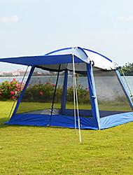 """Недорогие -8 человек Палатка с экраном от солнца На открытом воздухе С защитой от ветра Дожденепроницаемый Двухслойные зонты Карниза Палатка 2000-3000 mm для Путешествия Пикник Ткань """"Оксфорд"""" 300*300*215 cm"""