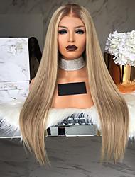 Недорогие -Парики из искусственных волос Прямой / Матовое стекло Kardashian Стиль Короткий Боб Без шапочки-основы Парик Коричневый Средний Коричневый / Клубника Blonde Искусственные волосы 26 дюймовый Жен.