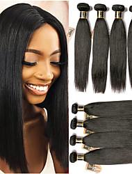 olcso -6 csomag Brazil haj Egyenes 100% Remy hajszövési csomó Az emberi haj sző Egy Pack Solution 8-28 hüvelyk Természetes szín Emberi haj sző Szagmentes Élet Hot eladó Human Hair Extensions Női