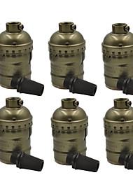 Недорогие -OYLYW 6шт E26 / E27 100-240V Diy лампы аксессуар алюминиевый патрон