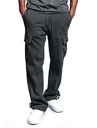 abordables -Hombre Básico Pantalones tipo cargo Pantalones - Un Color Rojo