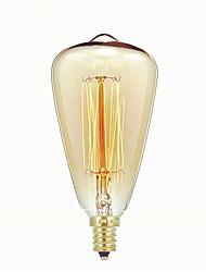 Недорогие -1шт 40 W E14 ST48 Тёплый белый 2300 k Ретро / Диммируемая / Декоративная Лампа накаливания Vintage Эдисон лампочка 220-240 V