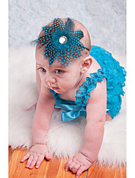 Недорогие -Дети (1-4 лет) Девочки Классический / Милая Однотонный С принтом Акрил Аксессуары для волос Зеленый / Лиловый Один размер