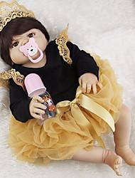 Недорогие -FeelWind Куклы реборн Девочки 22 дюймовый Полный силикон для тела - Дети / подростки Детские Универсальные Игрушки Подарок