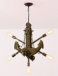 رخيصةأون -JSGYlights 5-الضوء السبوتنيك قمر صناعي / حداثة نجفات ضوء محيط طلاء ملون الخشب / الخيزران تصميم جديد 110-120V / 220-240V