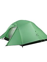 Недорогие -Naturehike 3 человека Семейный кемпинг-палатка На открытом воздухе С защитой от ветра Дожденепроницаемый Двухслойные зонты Карниза Палатка 2000-3000 mm для Походы / туризм / спелеология Путешествия