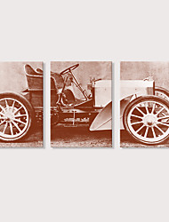 preiswerte -Druck Aufgespannte Leinwandrucke - Retro Transport Modern Drei Paneele