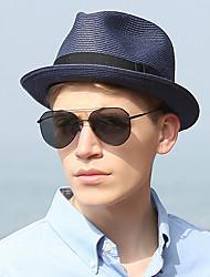 Χαμηλού Κόστους -Άχυρο Ψάθινα καπέλα με Μονόχρωμο 1 τμχ Καθημερινά Ρούχα / Belmont Stakes Headpiece