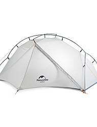 Недорогие -Naturehike 1 человек Семейный кемпинг-палатка На открытом воздухе Легкость С защитой от ветра Дожденепроницаемый Двухслойные зонты Карниза Палатка 1500-2000 mm для