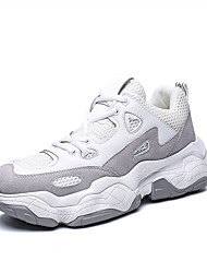 رخيصةأون -رجالي أحذية الراحة شبكة للربيع والصيف رياضي أحذية رياضية الركض متنفس أبيض / البيج / البرتقالي والأسود